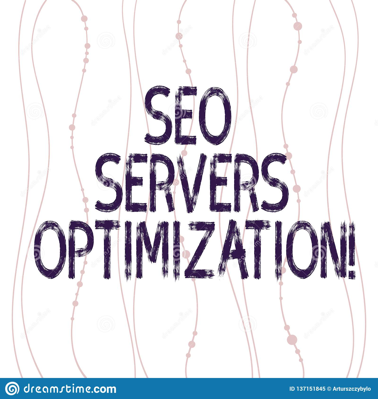 Text sign showing Seo Servers Optimization. Conceptual photo SEO network working at maximum efficiency Vertical Curved