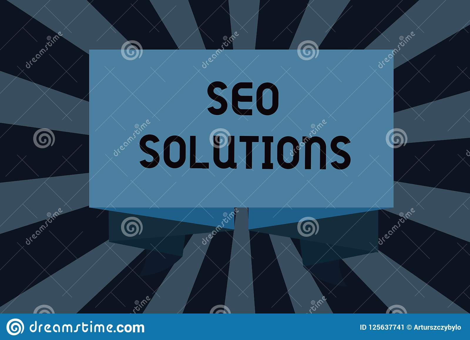 Text sign showing Seo Solutions. Conceptual photo Search Engine Result Page Increase Visitors by Rankings