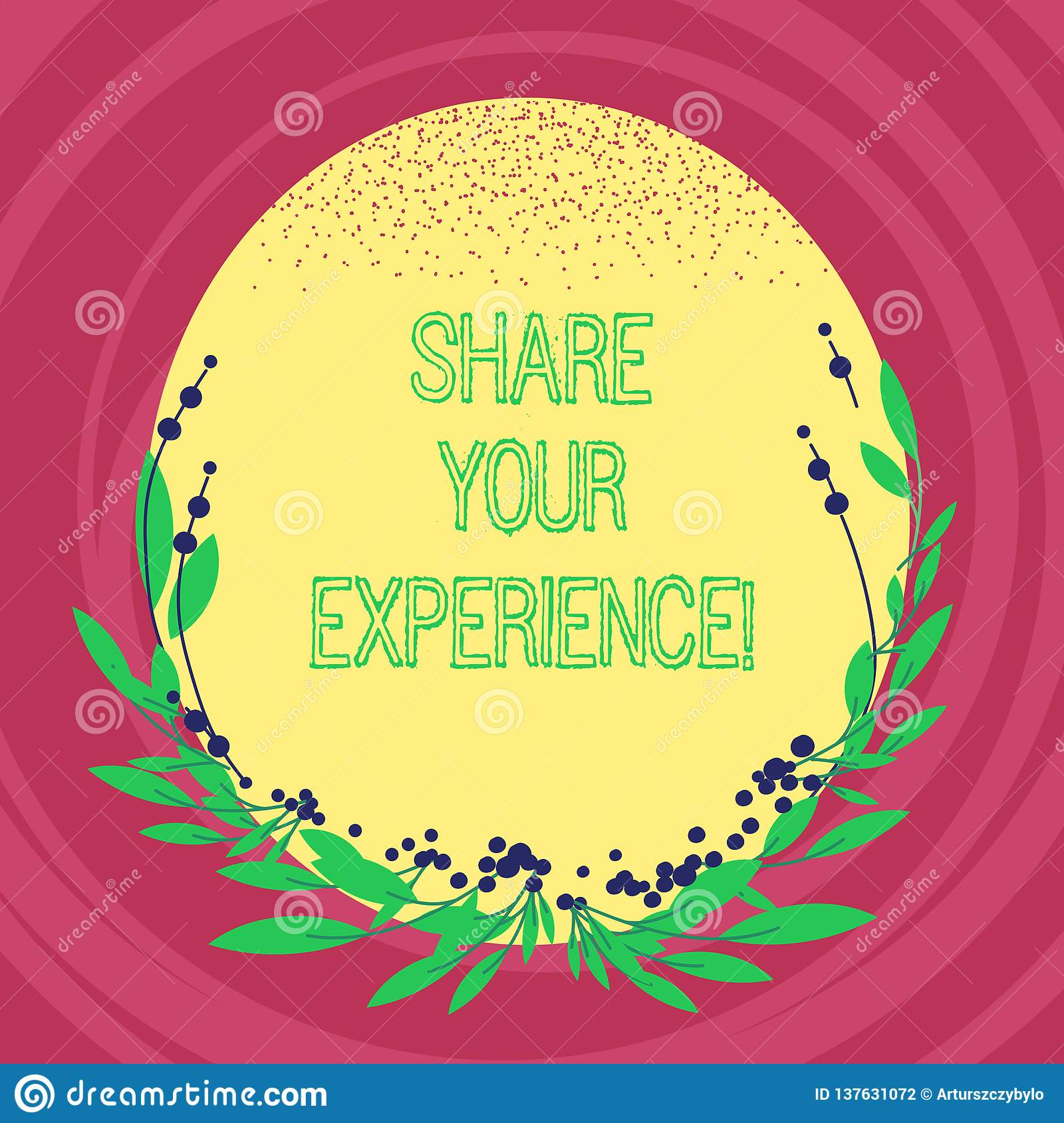 Text sign showing Share Your Experience. Conceptual photo telling about the skills you have gained through time Blank