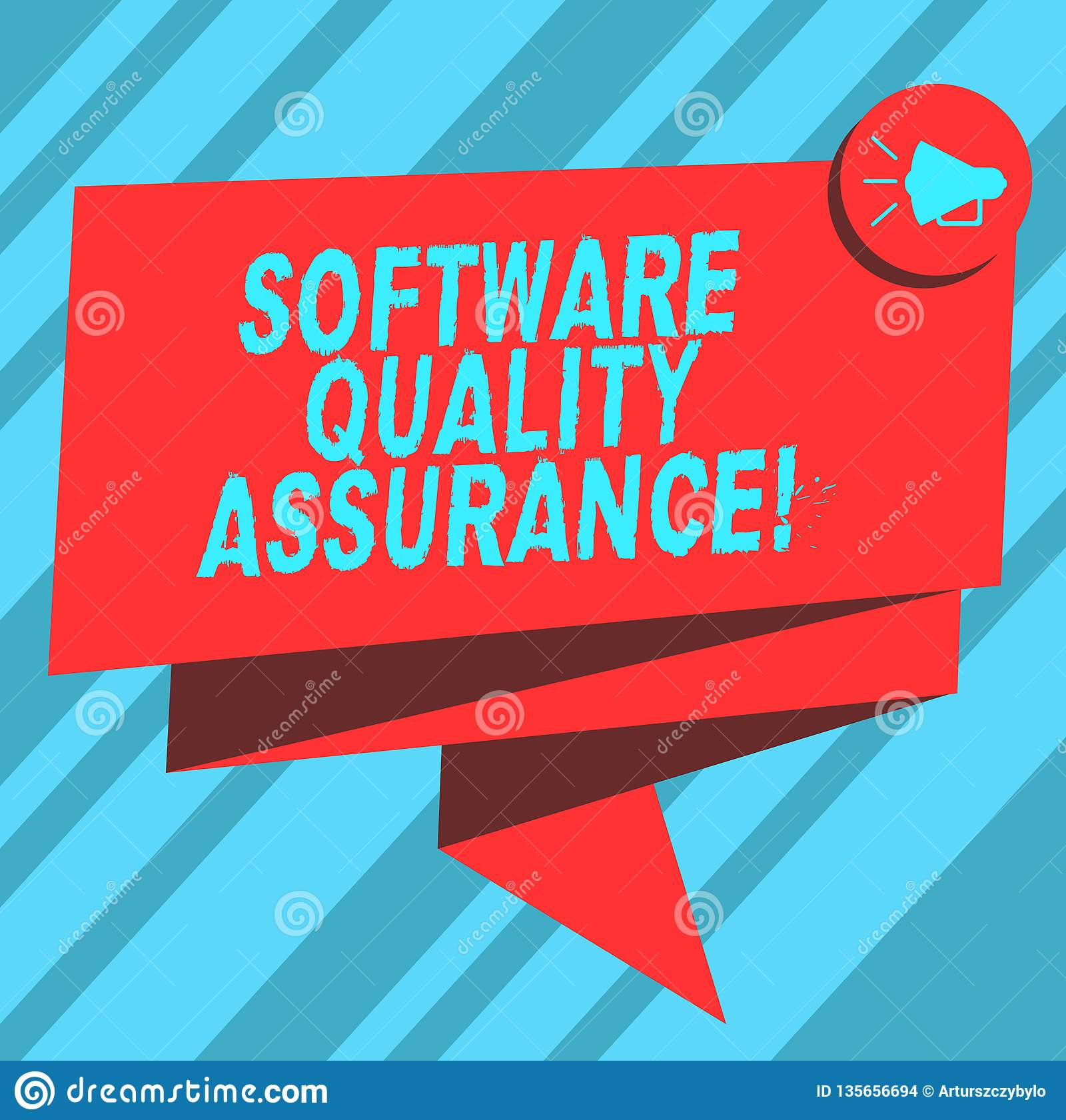 Text Sign Showing Software Quality Assurance Conceptual Photo Ensuring Quality In Software Engineering Process Folded Stock Illustration Illustration Of Plan Maintenance 135656694