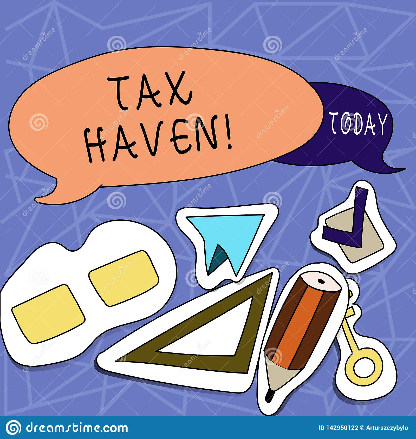 Text sign showing Tax Haven. Conceptual photo country or independent area where taxes are levied at low rate Two Blank