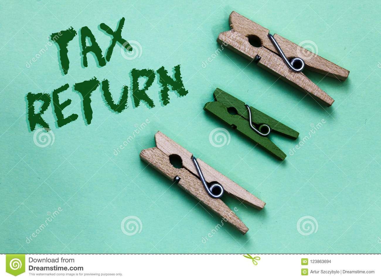 Text sign showing Tax Return. Conceptual photo which taxpayer makes annual statement of income circumstances Three brown green vin