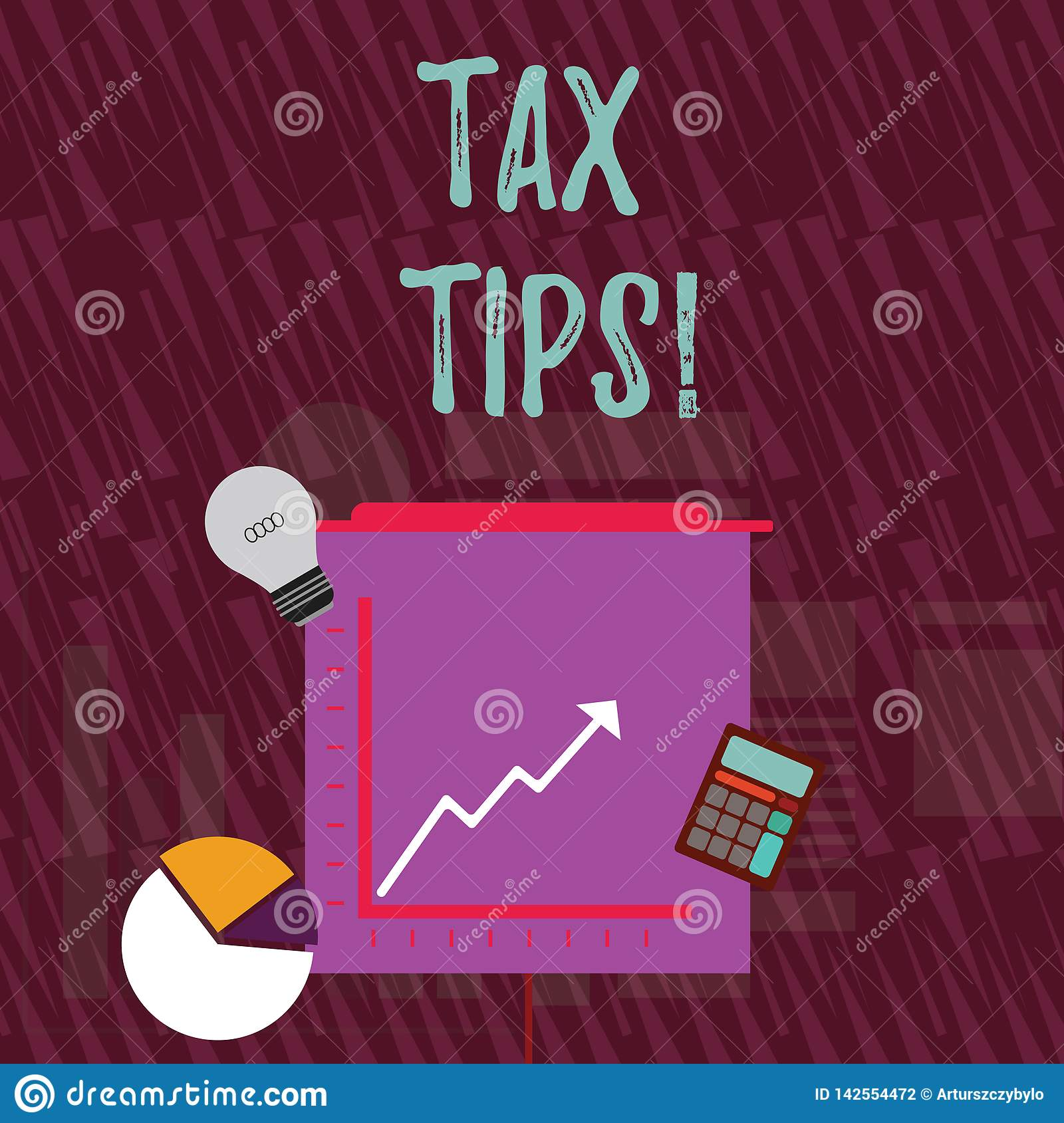 Text Sign Showing Tax Tips. Conceptual Photo Compulsory Contribution To State Revenue