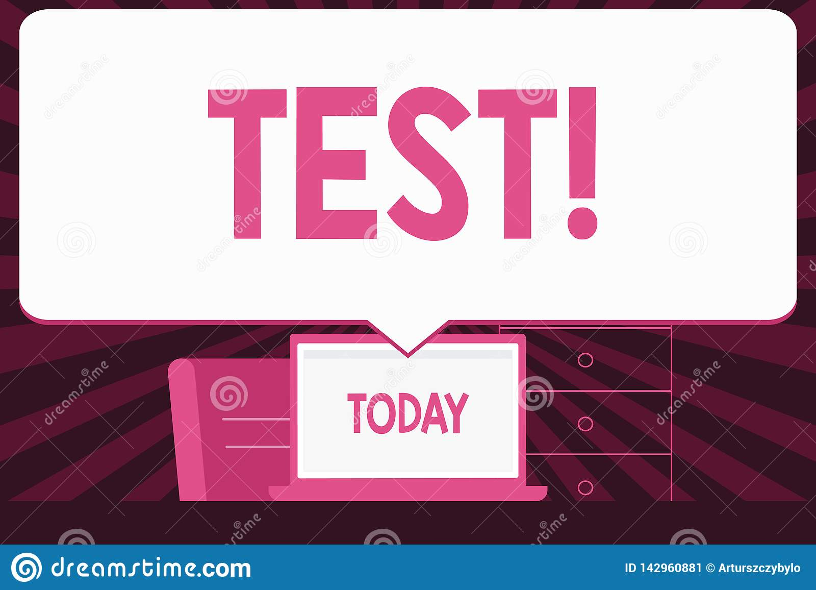 Text sign showing Test. Conceptual photo Academic systemic procedure assess reliability durability proficiency Blank