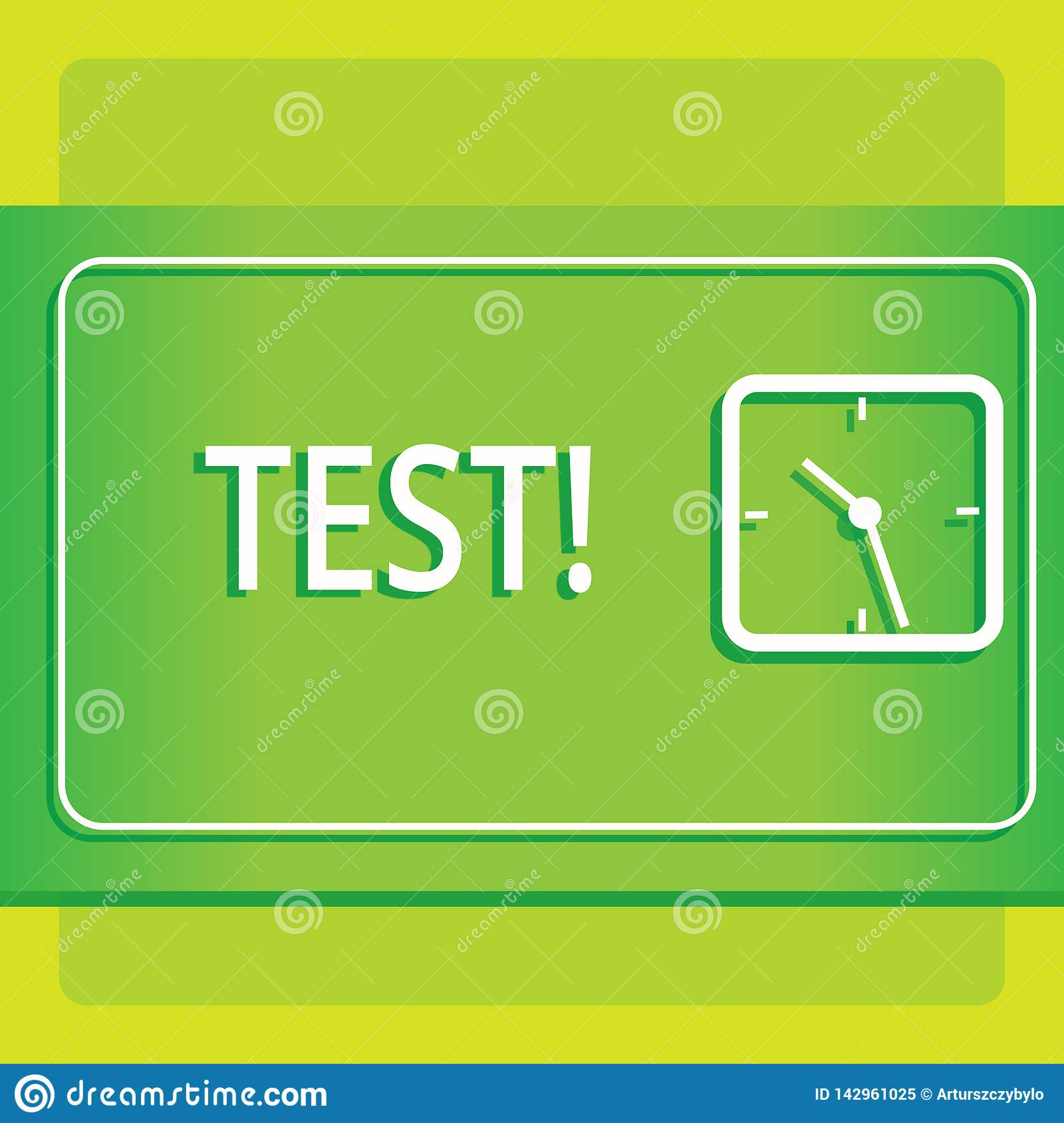 Text sign showing Test. Conceptual photo Academic systemic procedure assess reliability durability proficiency Modern