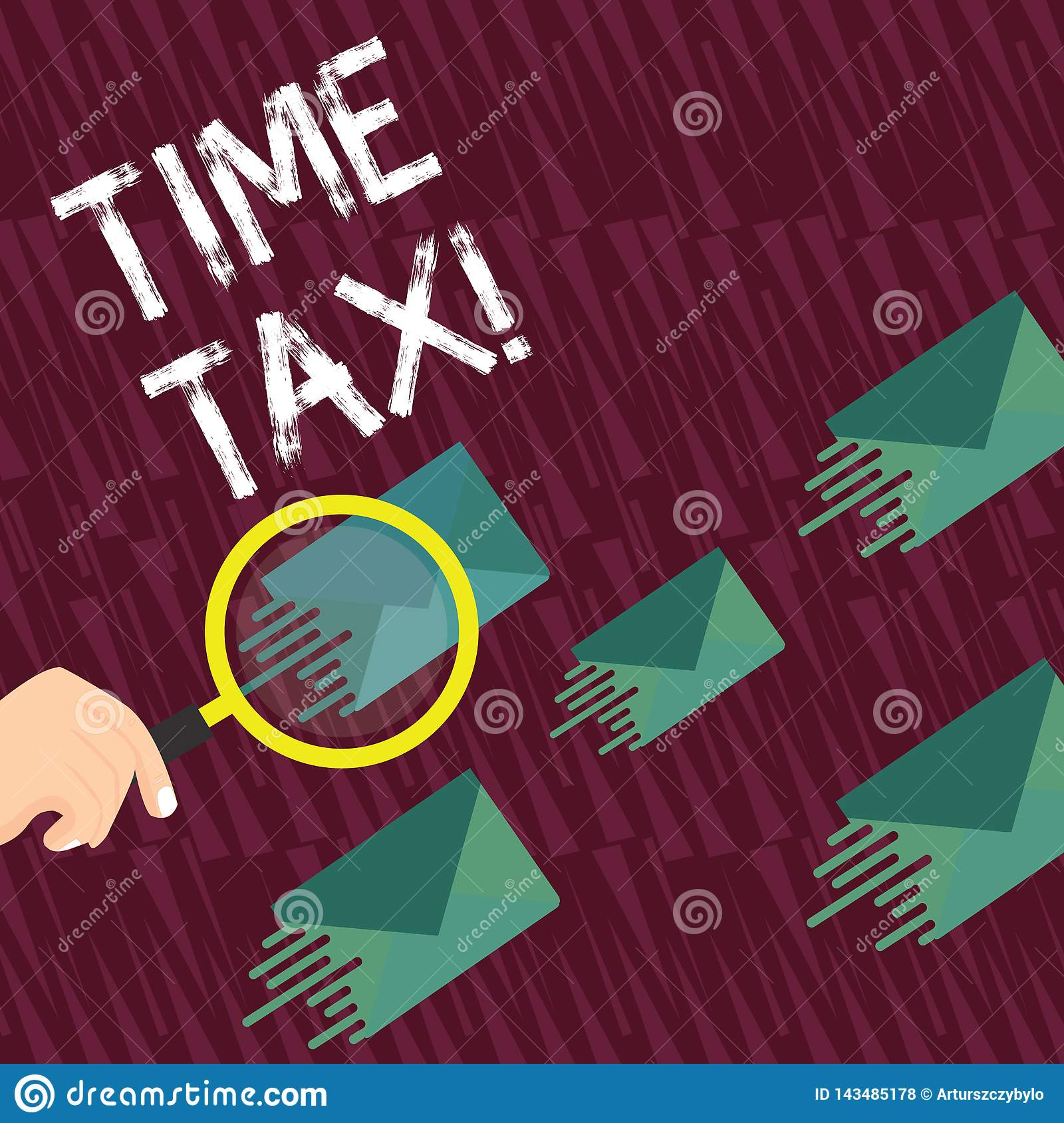 Text Sign Showing Time Tax. Conceptual Photo When