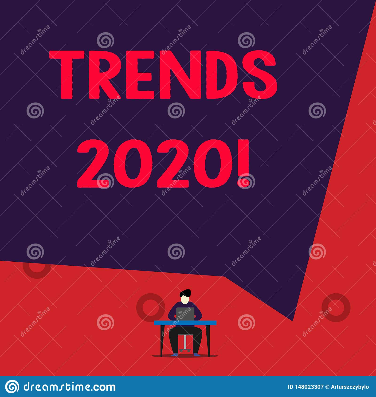 Illustration Trends 2020.Text Sign Showing Trends 2020 Conceptual Photo General