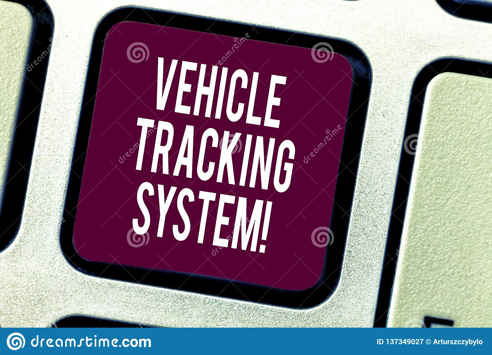 Text Sign Showing Vehicle Tracking System  Conceptual Photo