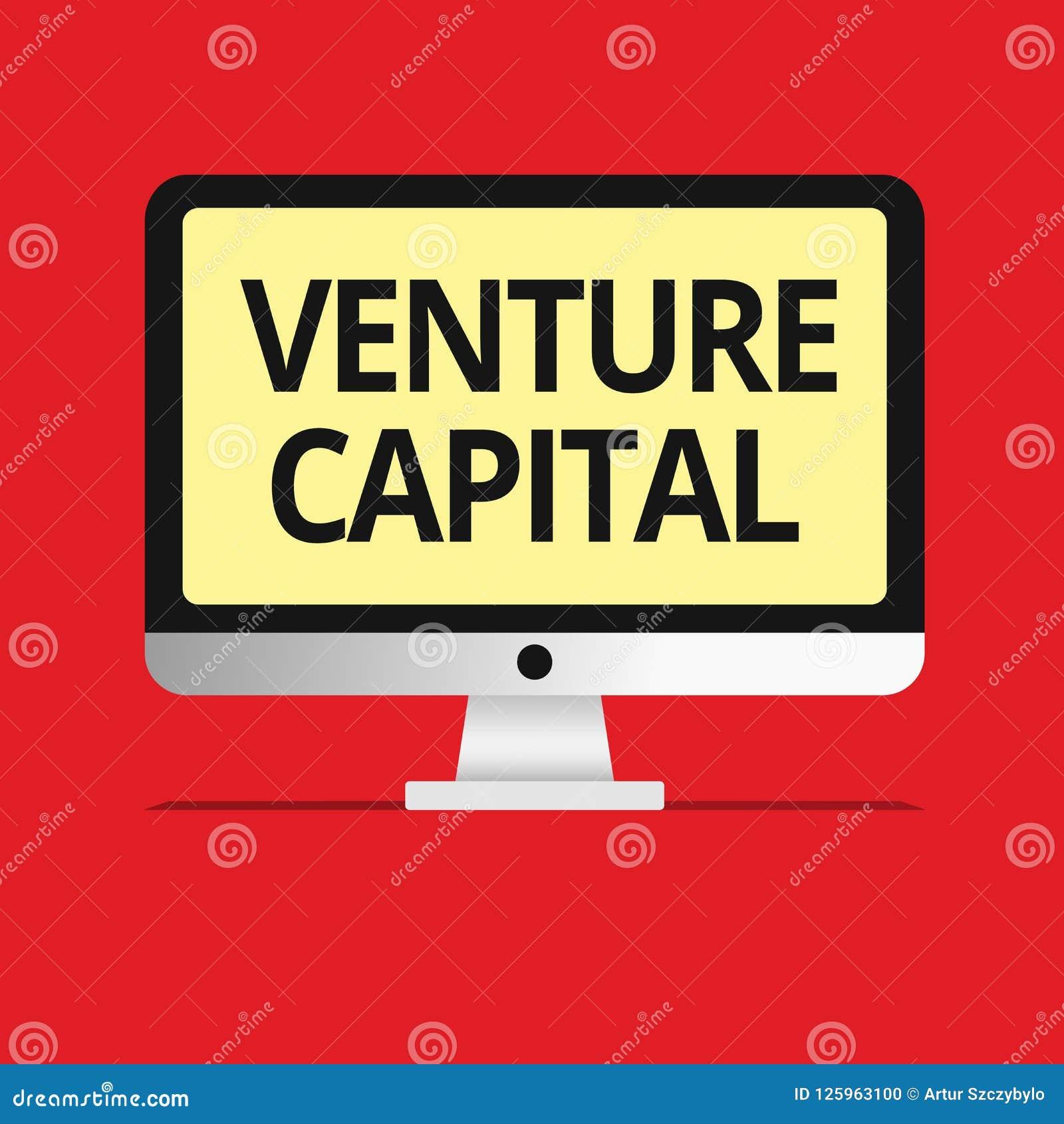 Text Sign Showing Venture Capital  Conceptual Photo
