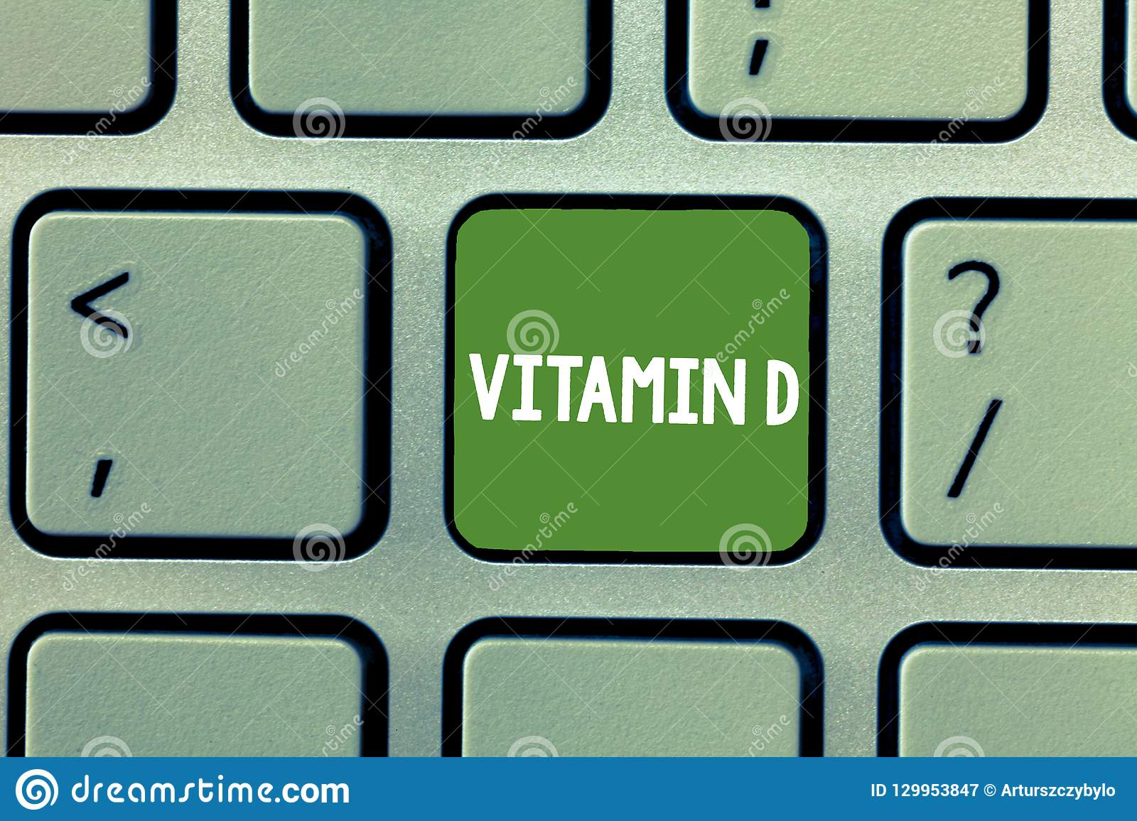Text sign showing Vitamin D. Conceptual photo Nutrient responsible for increasing intestinal absorption