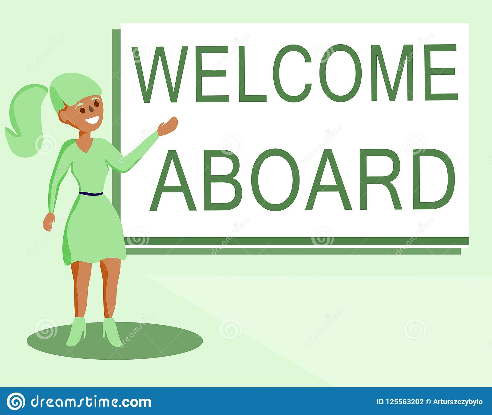 Text Sign Showing Welcome Aboard Conceptual Photo Expression Of