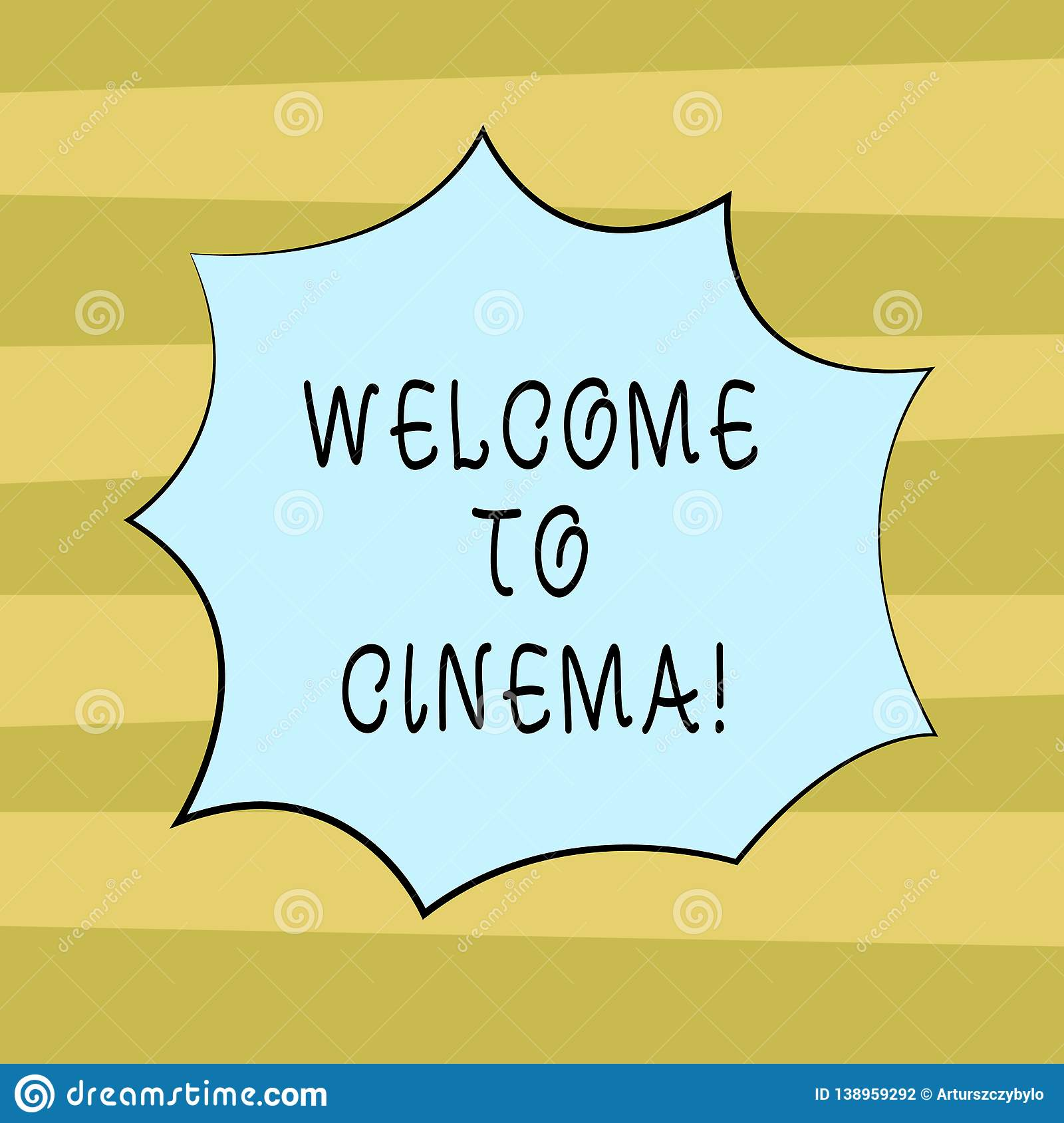 Text Sign Showing Welcome To Cinema  Conceptual Photo