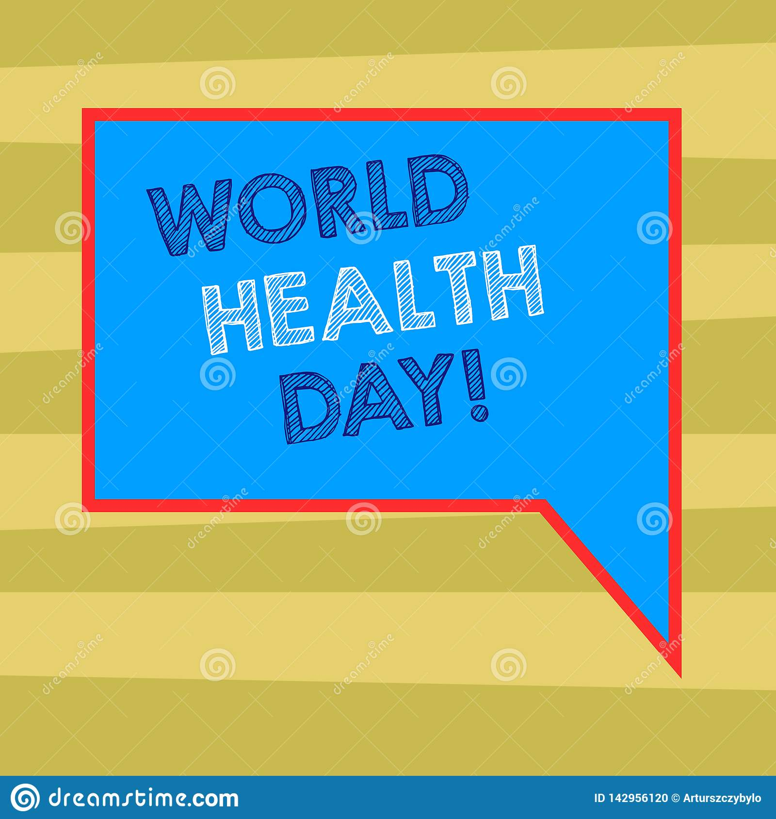 Text Sign Showing World Health Day. Conceptual Photo ...