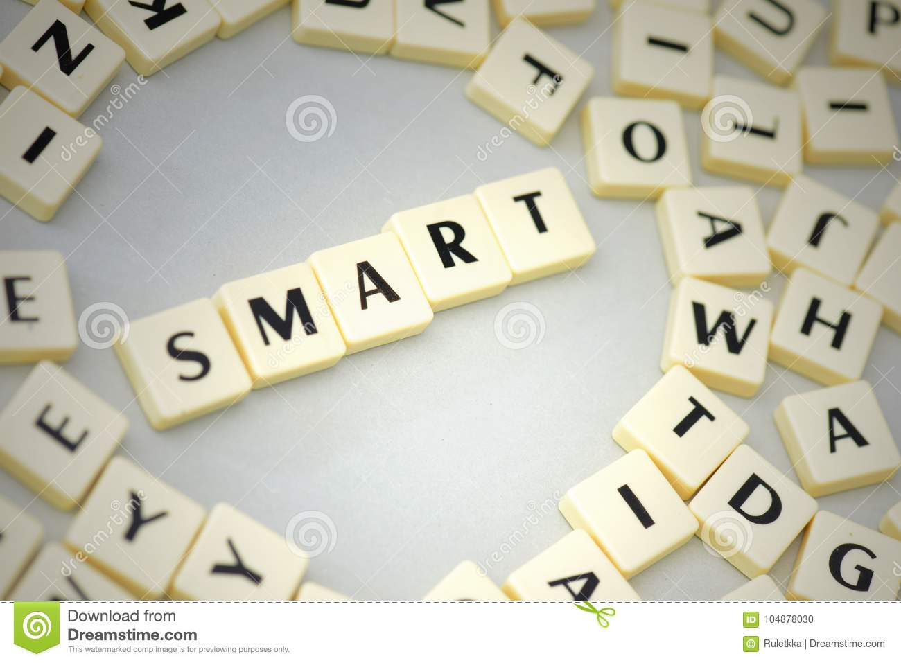 Smart N Final Near Me >> Text Smart On The Gray Background Near The Letters Stock Photo