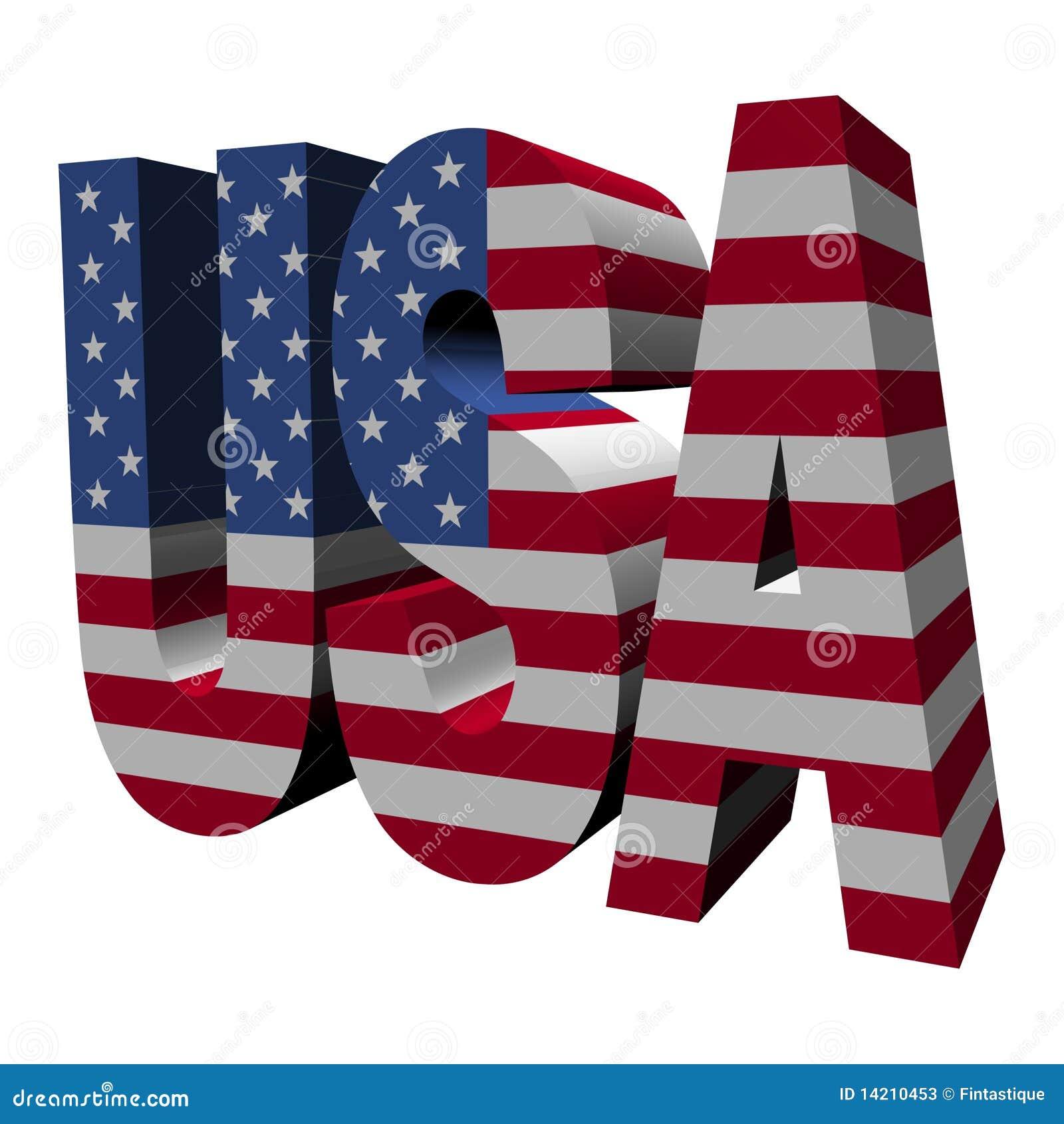 text usa 3d mit amerikanischer flagge stock abbildung illustration von abbildung amerika. Black Bedroom Furniture Sets. Home Design Ideas