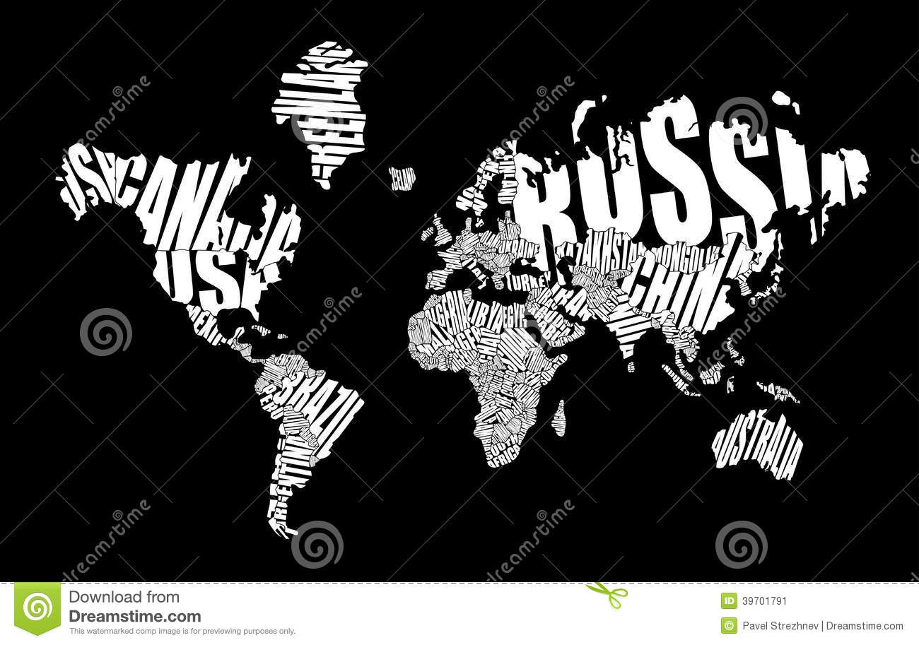 Text world map stock vector illustration of cartography 39701791 text world map gumiabroncs Image collections