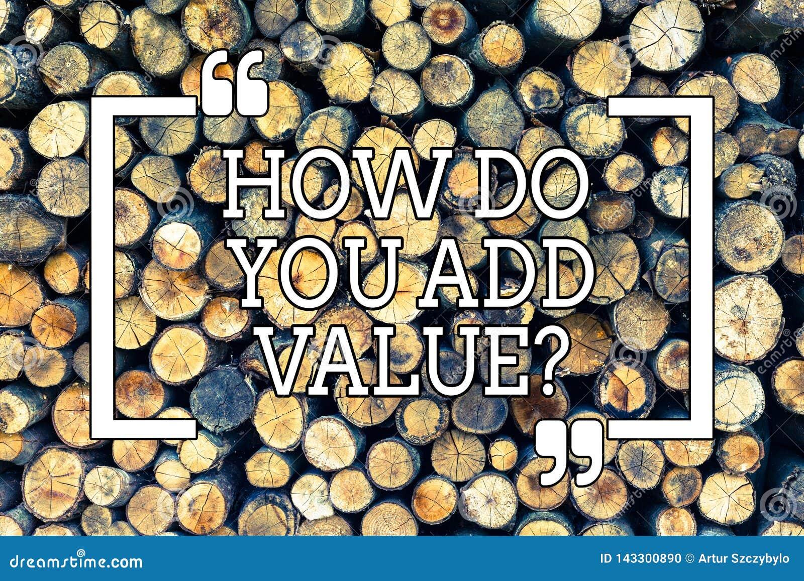 Texte d écriture écrivant comment vous ajoutez Valuequestion La signification de concept apportent le progrès d affaires pour con
