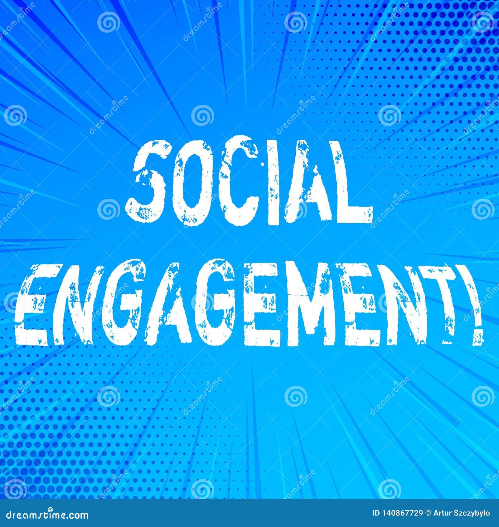 Texte d écriture écrivant l engagement social Le courrier de signification de concept obtient de hautes annonces SEO Advertising