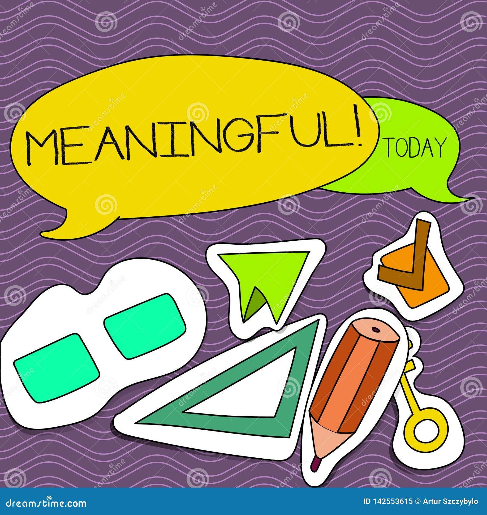 Texte d écriture de Word signicatif Concept d affaires pour avoir l en blanc deux utile important approprié significatif de signi