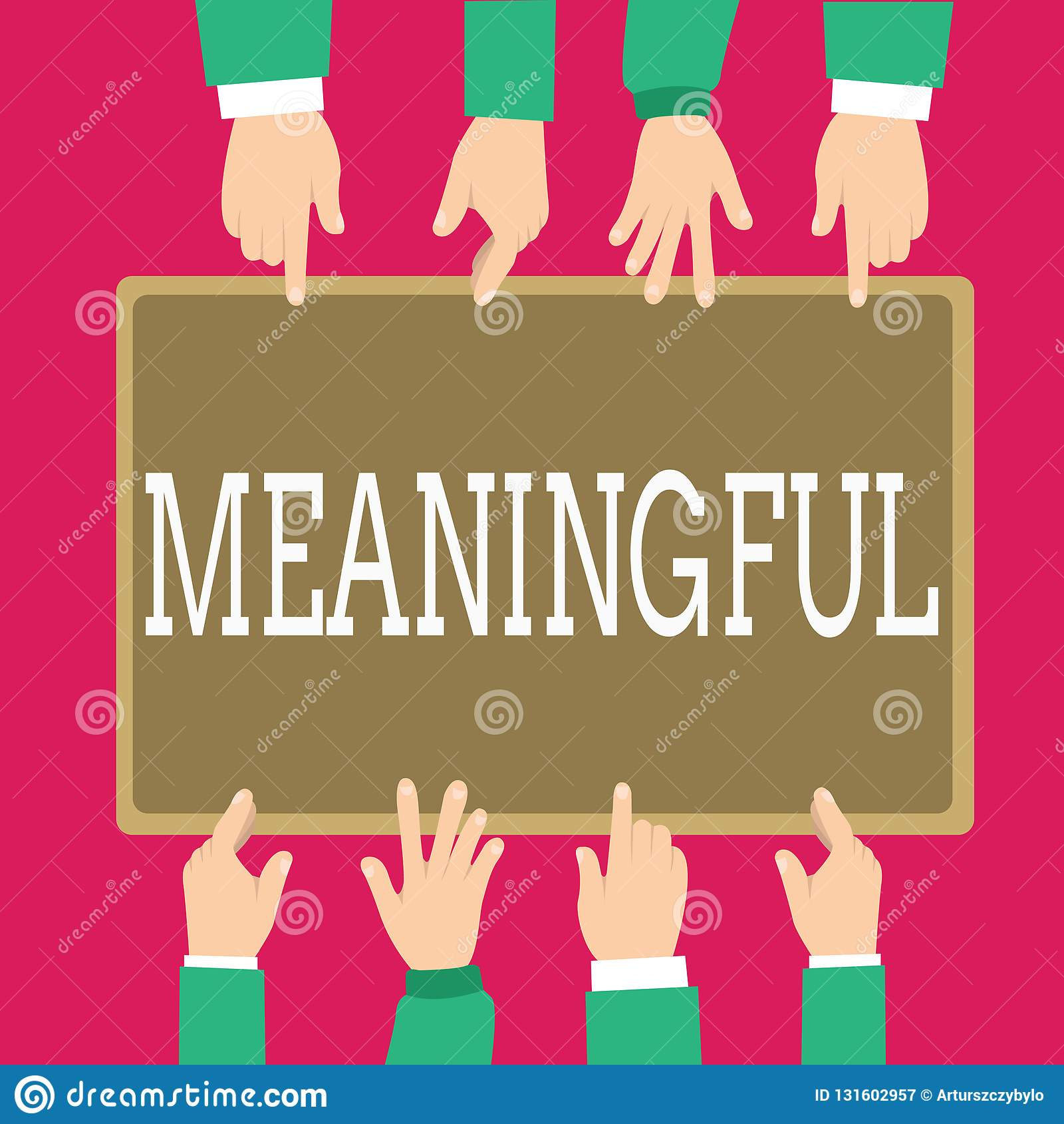 Texte d écriture de Word signicatif Concept d affaires pour avoir signifier utile important approprié significatif