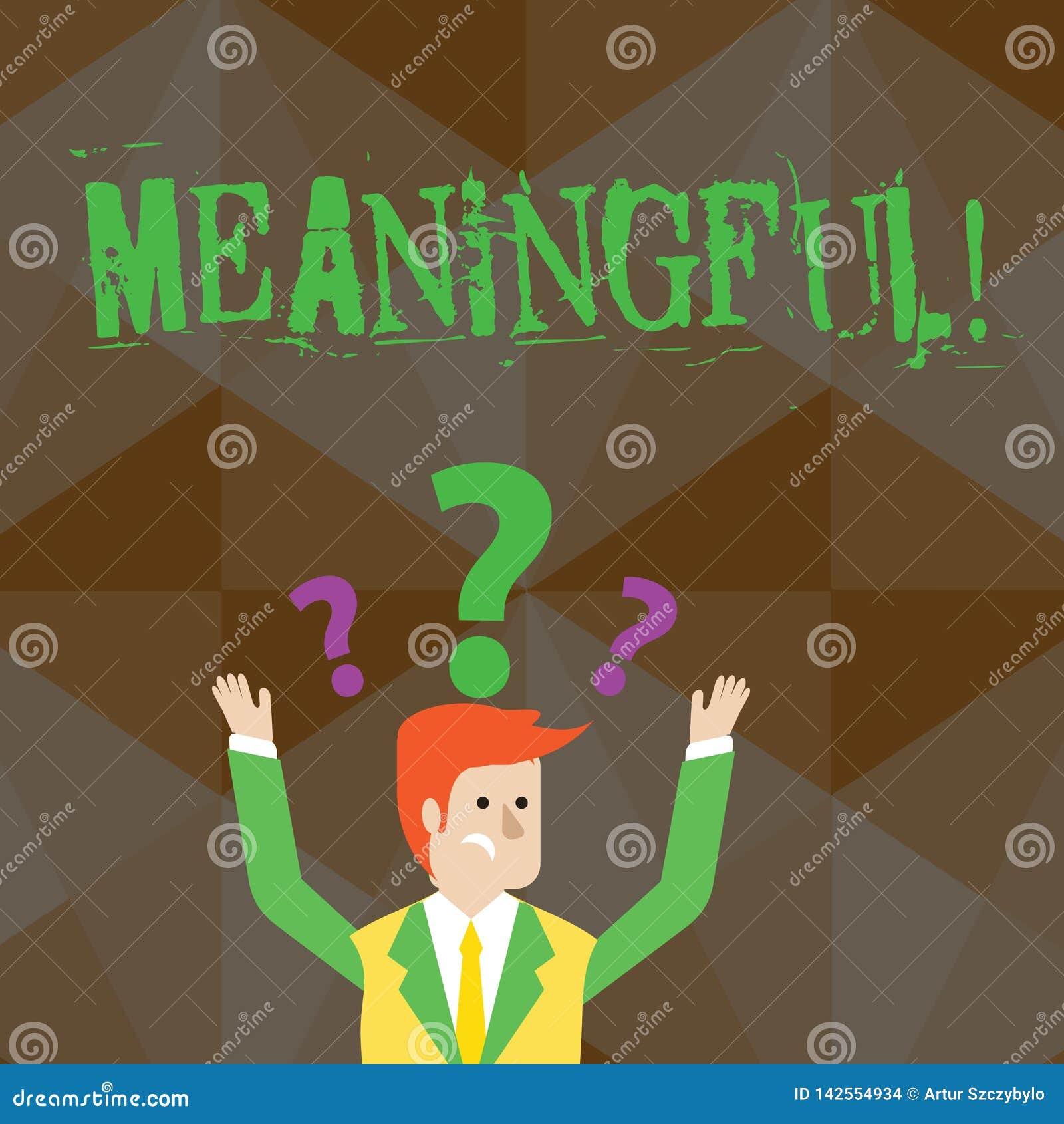 Texte d écriture signicatif Signification de concept ayant signifier utile important approprié significatif confus