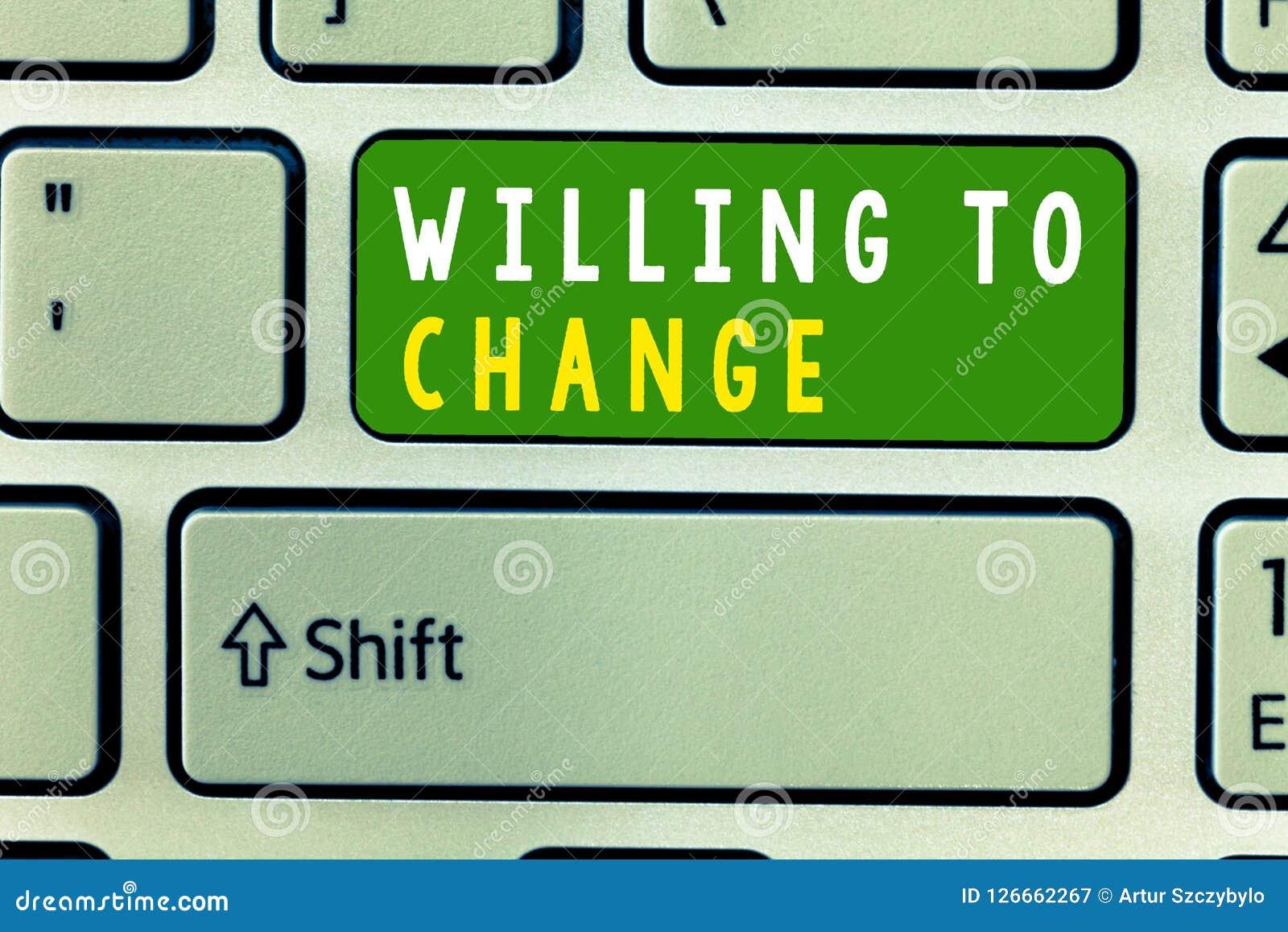 Texte d écriture voulant changer Désir de signification de concept de se développer désireux d accepter et adopter de nouvelles i