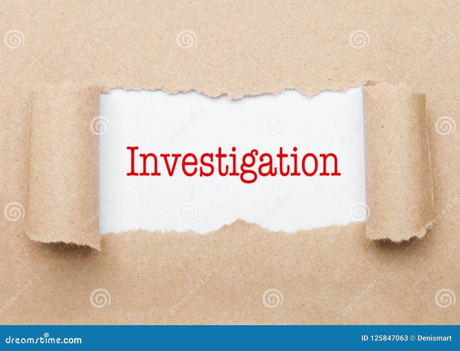 Texte d enquête paraissant derrière le papier brun