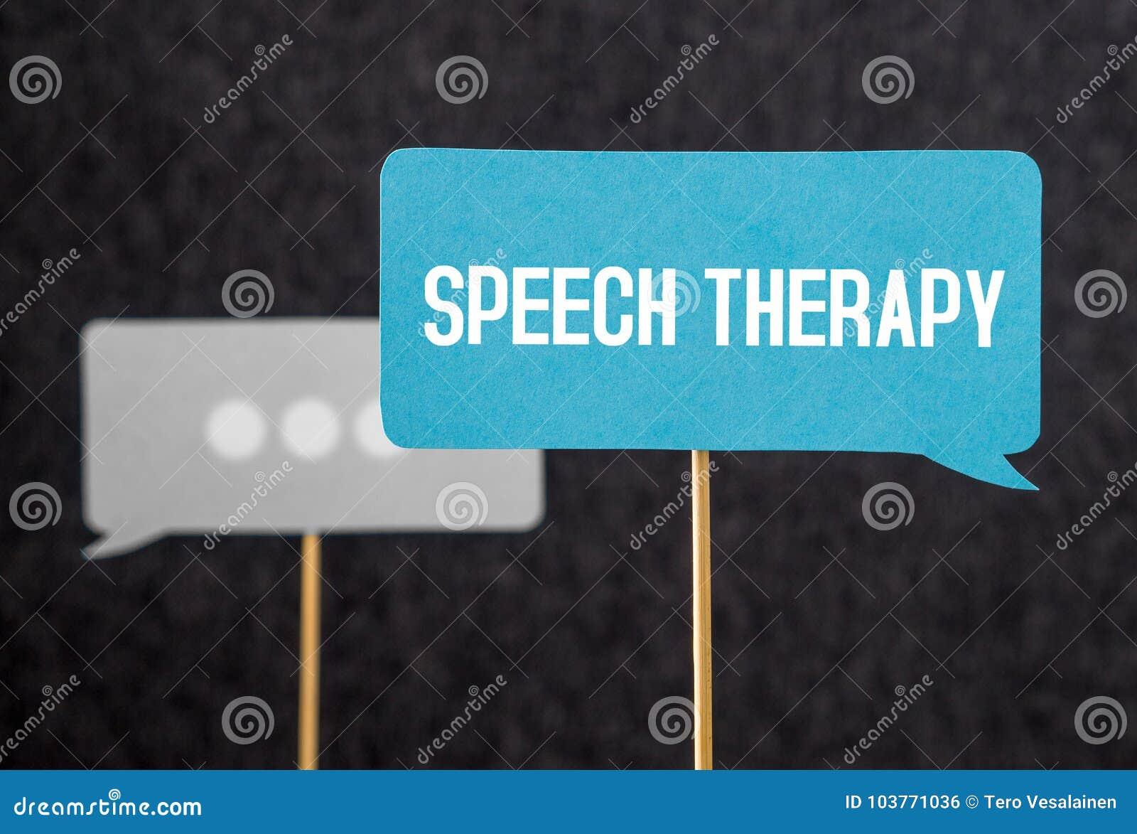 Texte d orthophonie sur le ballon ou la bulle de la parole de carton