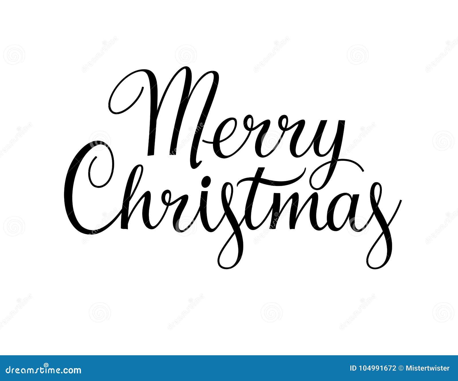 Texte De Joyeux Noël Illustration De Vecteur Calli Noir Et