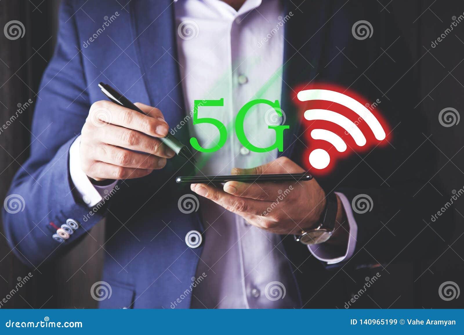 Texte 5G avec WI fi