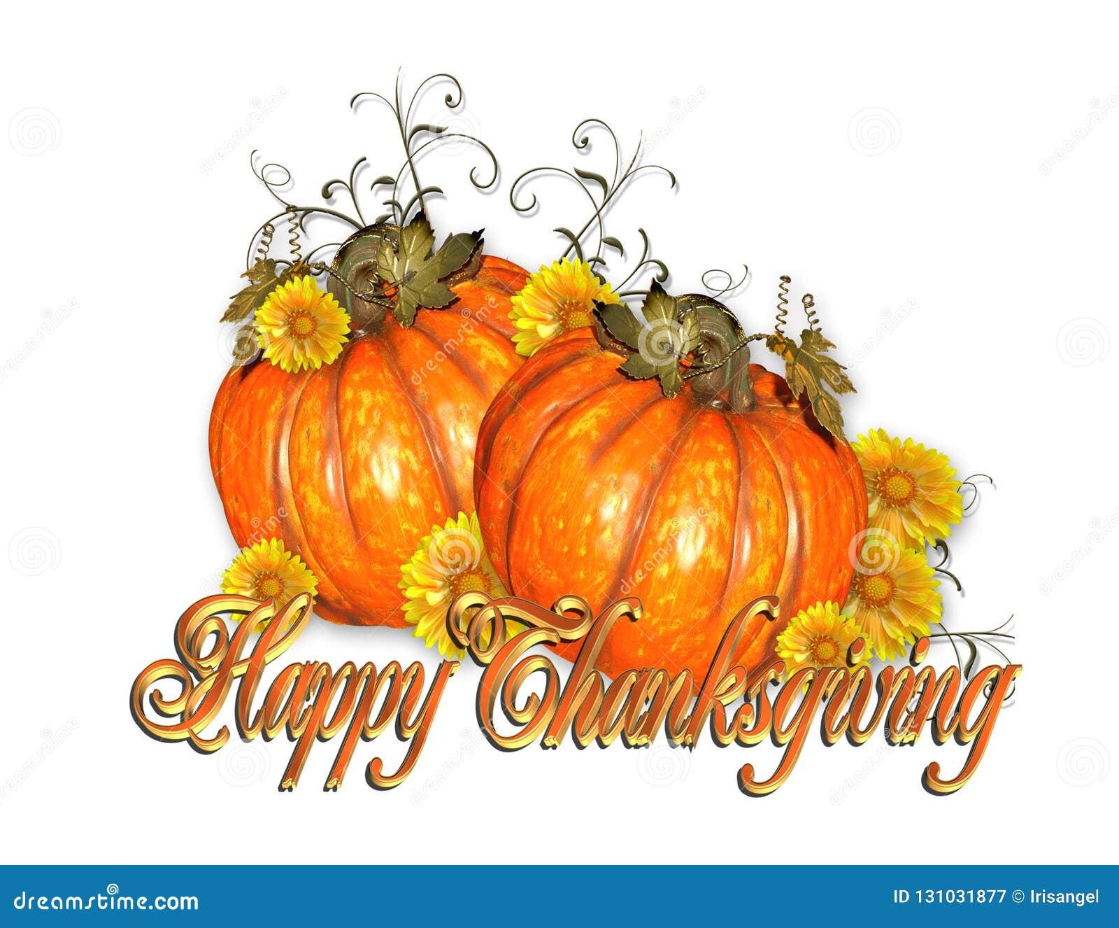 Texte heureux d or de potirons de thanksgiving