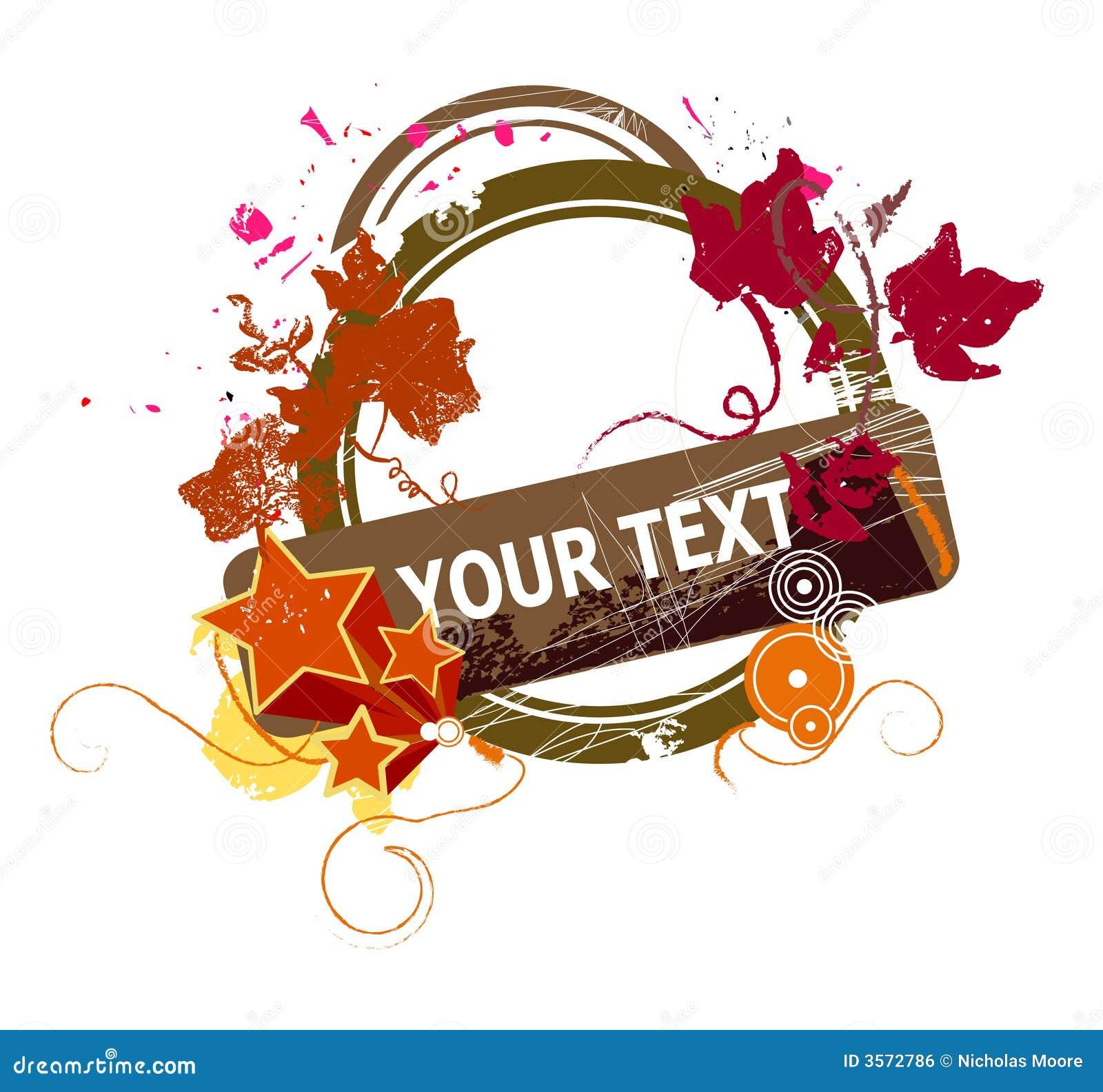 Textholder floreale