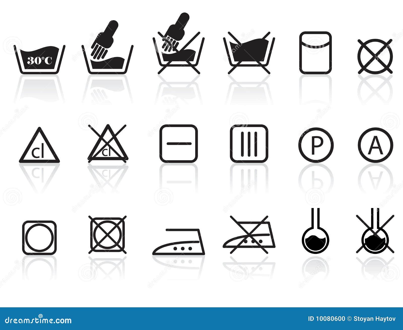 Textil för omsorgstvätterisymboler