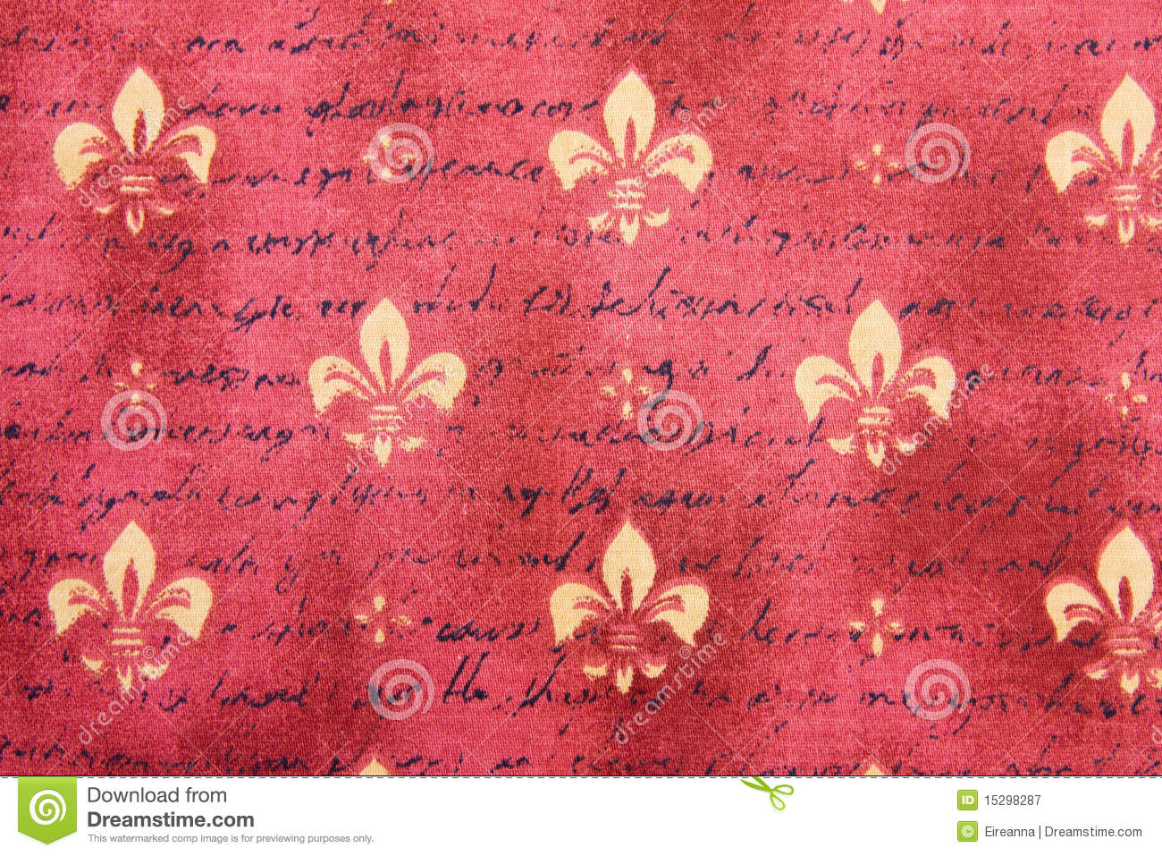 Girly Background Royalty Free Stock Photo: Textile Background With Fleur De Lis Stock Image
