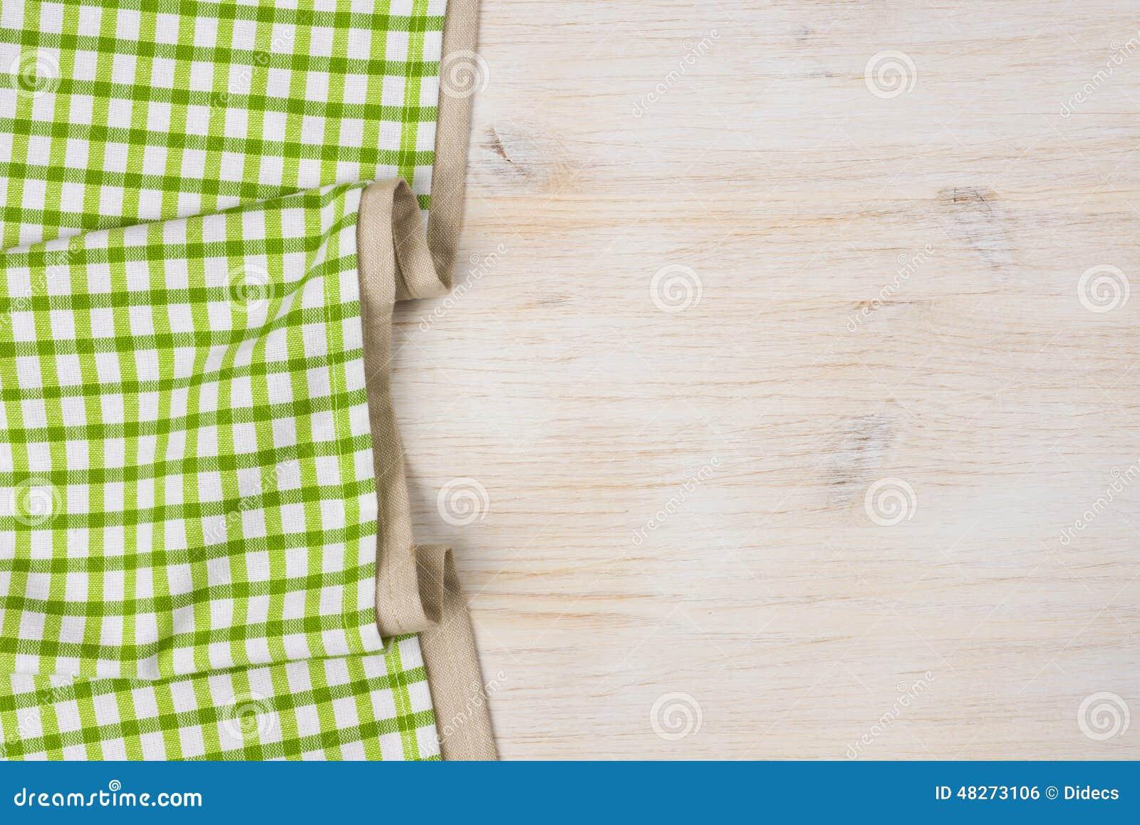 Textile de nappe sur le fond en bois blanchi