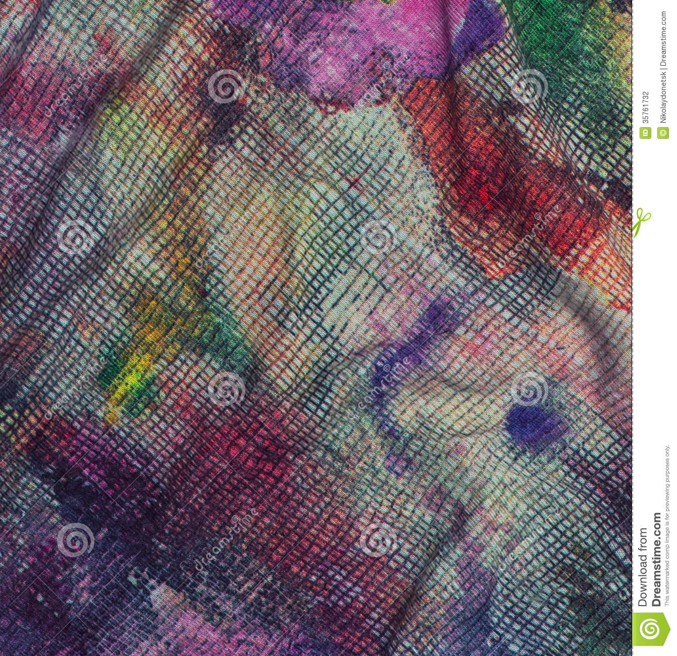 Textile Fabric Watercolor Color Code Stock Photography - Image: 35761732