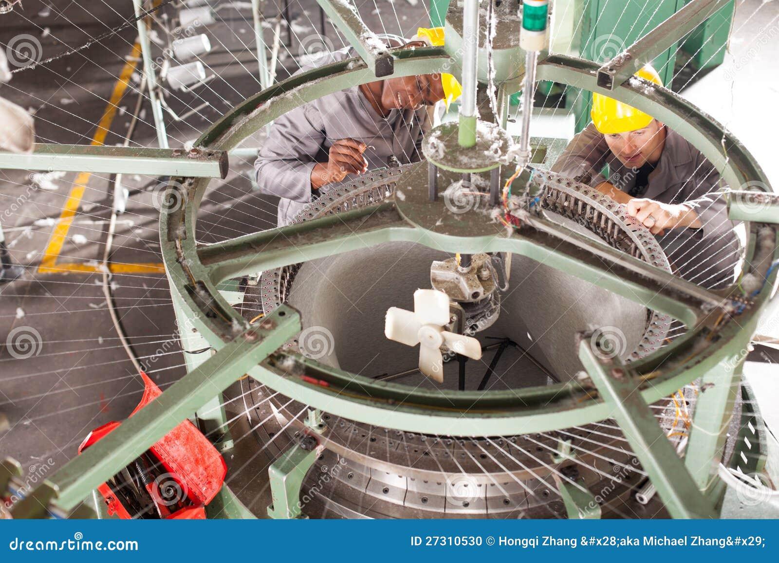 Textile Factory Technicians Stock Photo Image 27310530