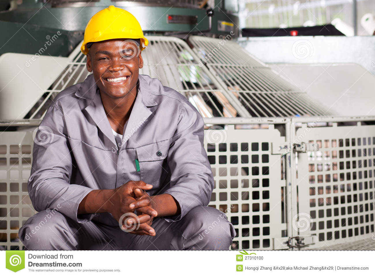 Textile Factory Worker Stock Photo Image 27310100