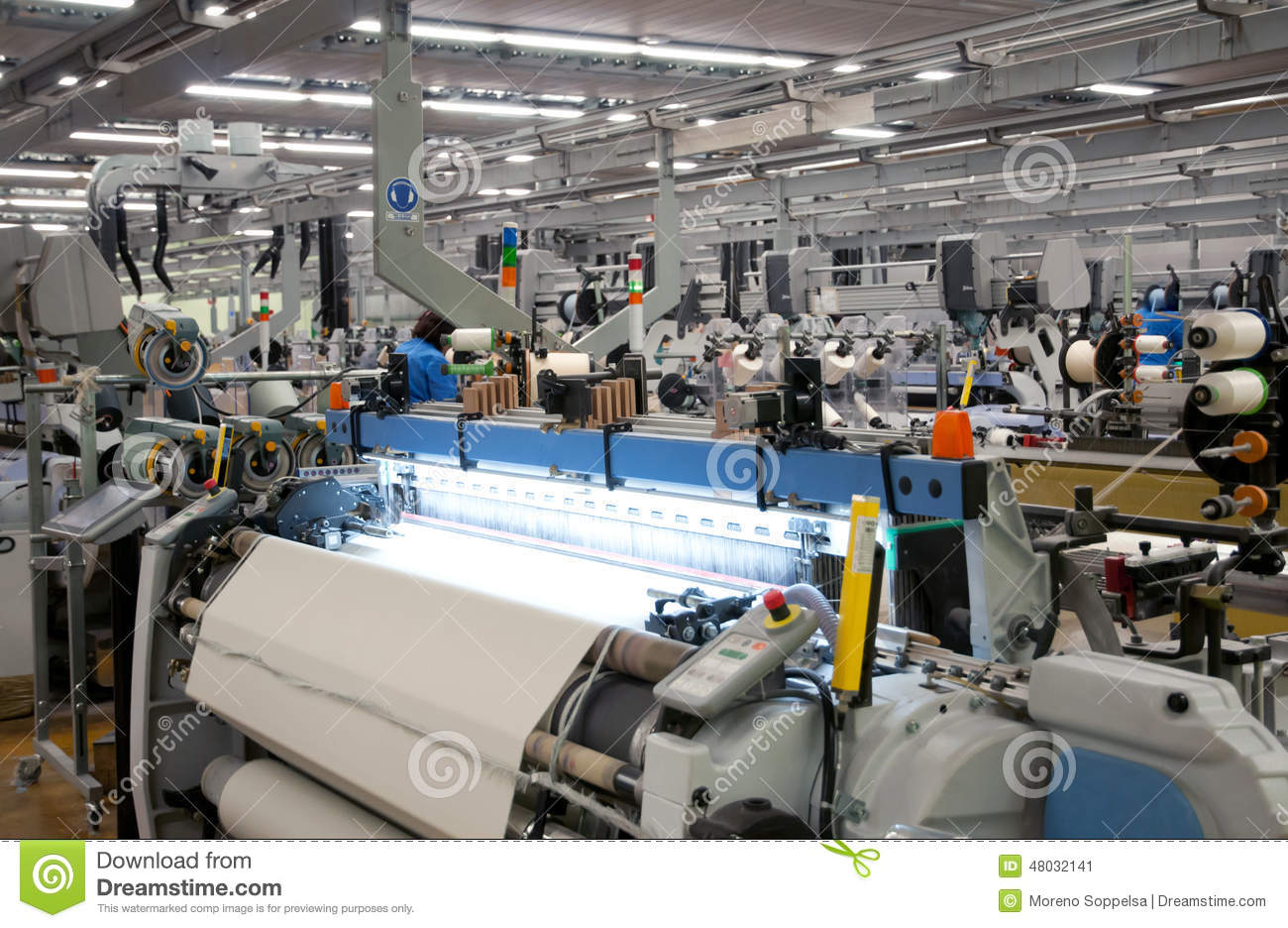 Textile Industry - Weaving And Warping Stock Image - Image ...