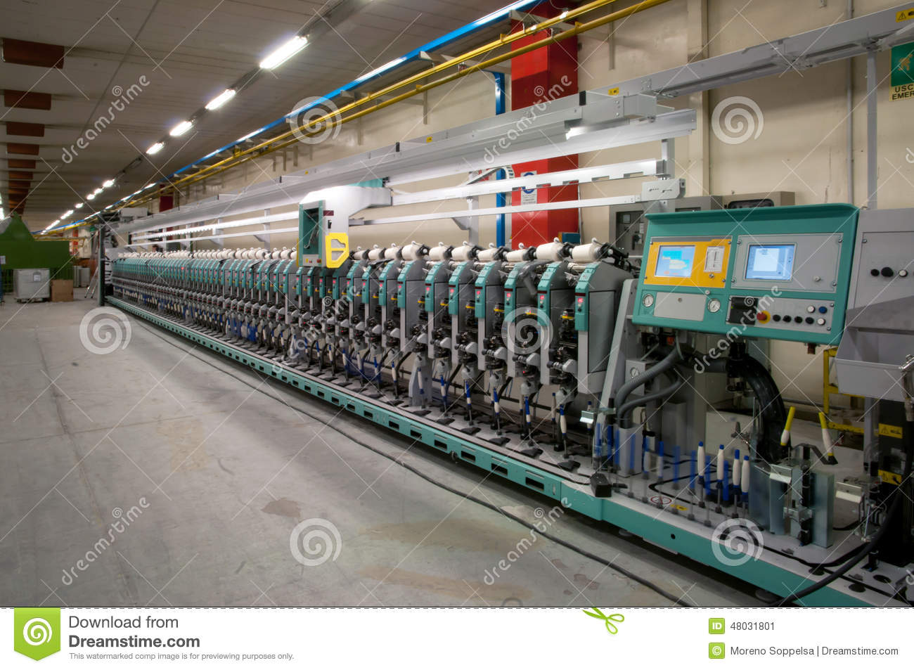 Textile industry - Winding stock image  Image of industrial