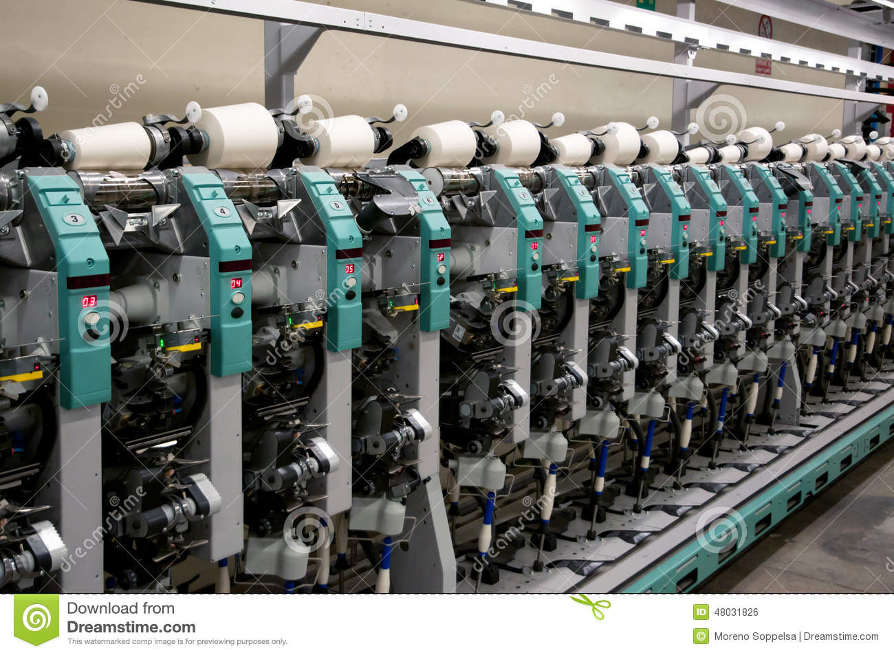 Textile industry - Winding stock photo  Image of fully