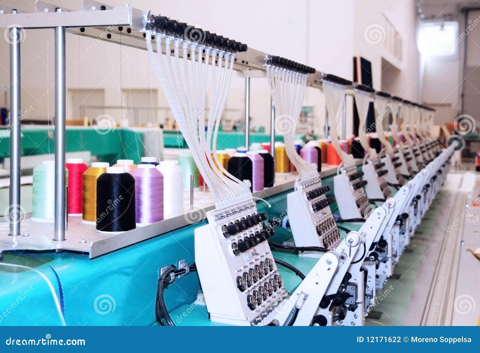 Textile Machine Industrielle De Broderie Photographie