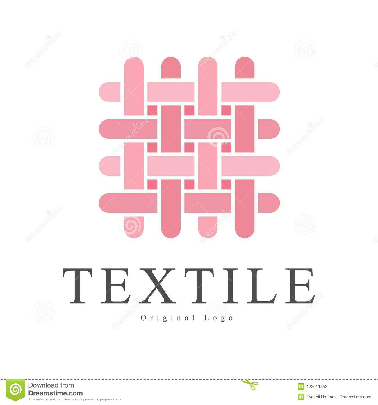 Textile Original Logo Design Creative Sign For Company Identity
