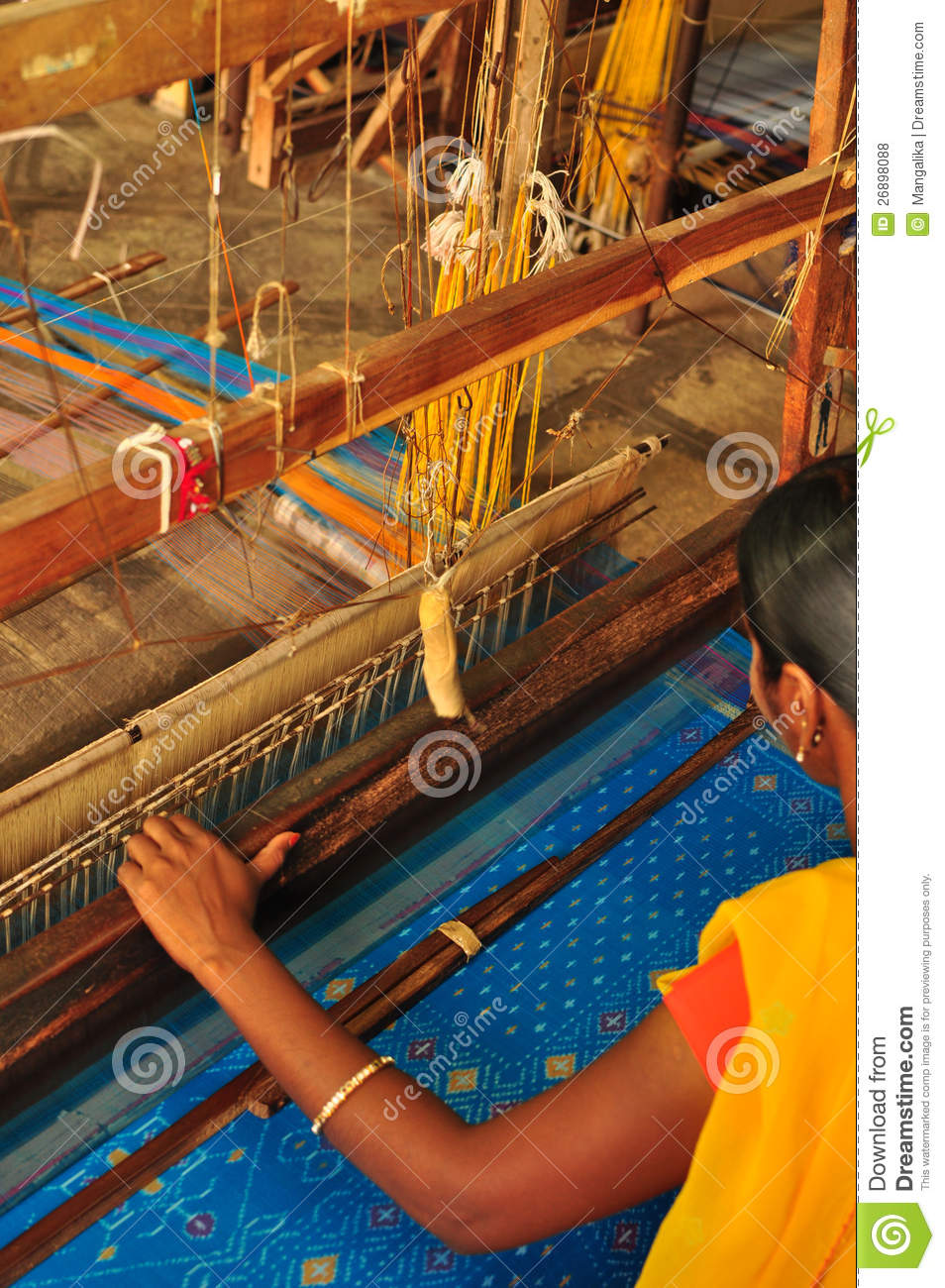 Working Woman In Silk Industry Editorial Stock Photo