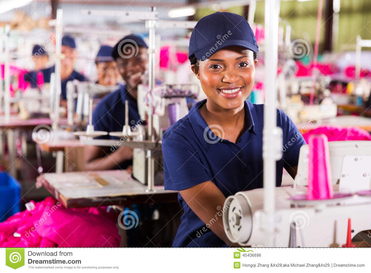 Textile worker factory
