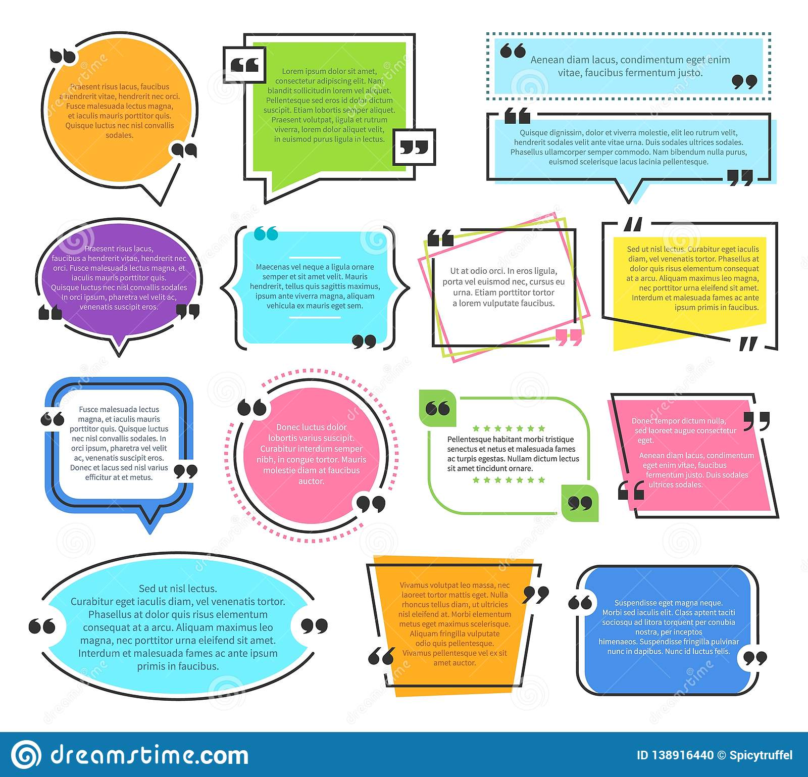 Texting boxes. Quote text design info boxes quotation bubble blog quotes symbols. Speech citation balloons, remark frame