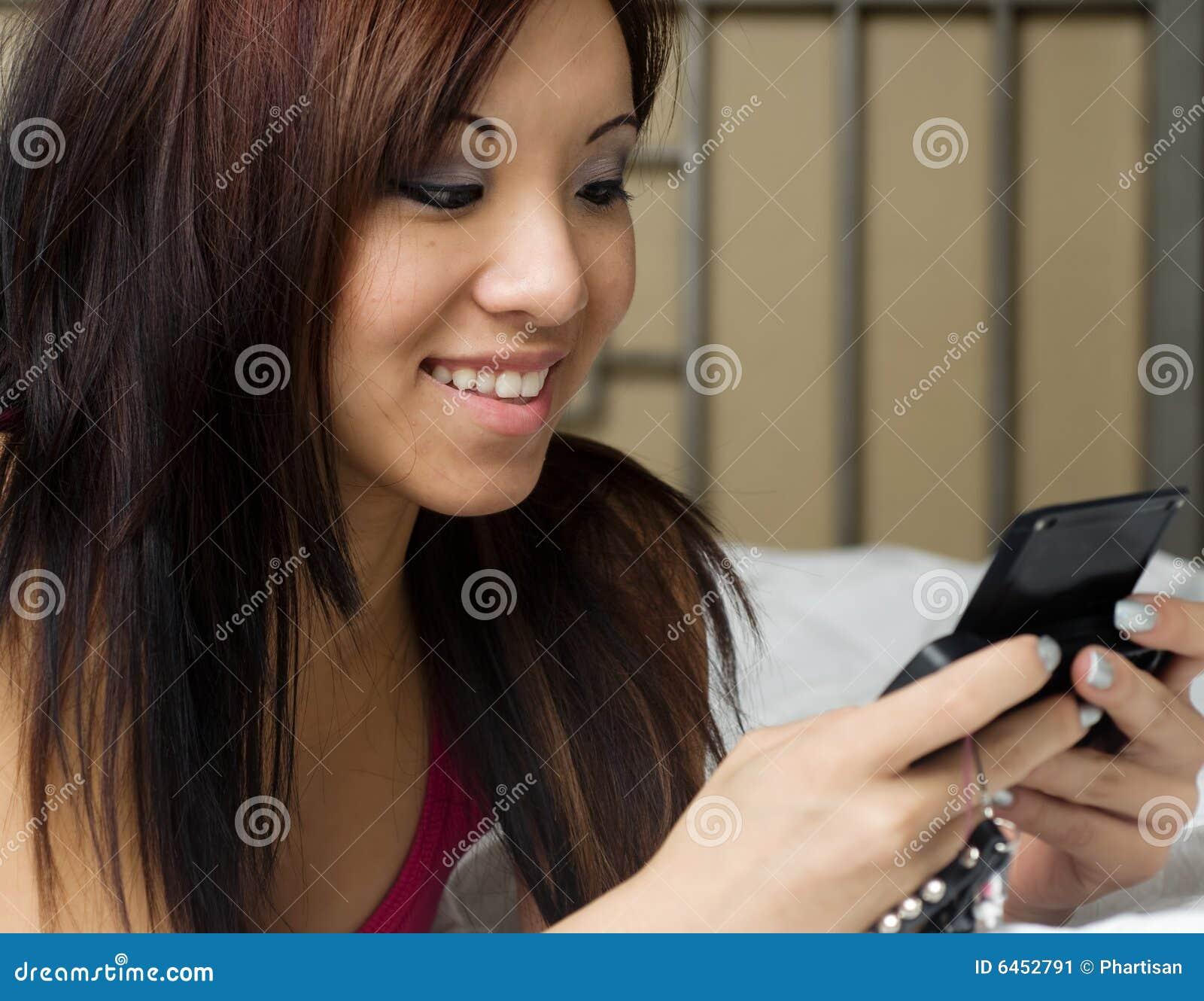 Texting na cama