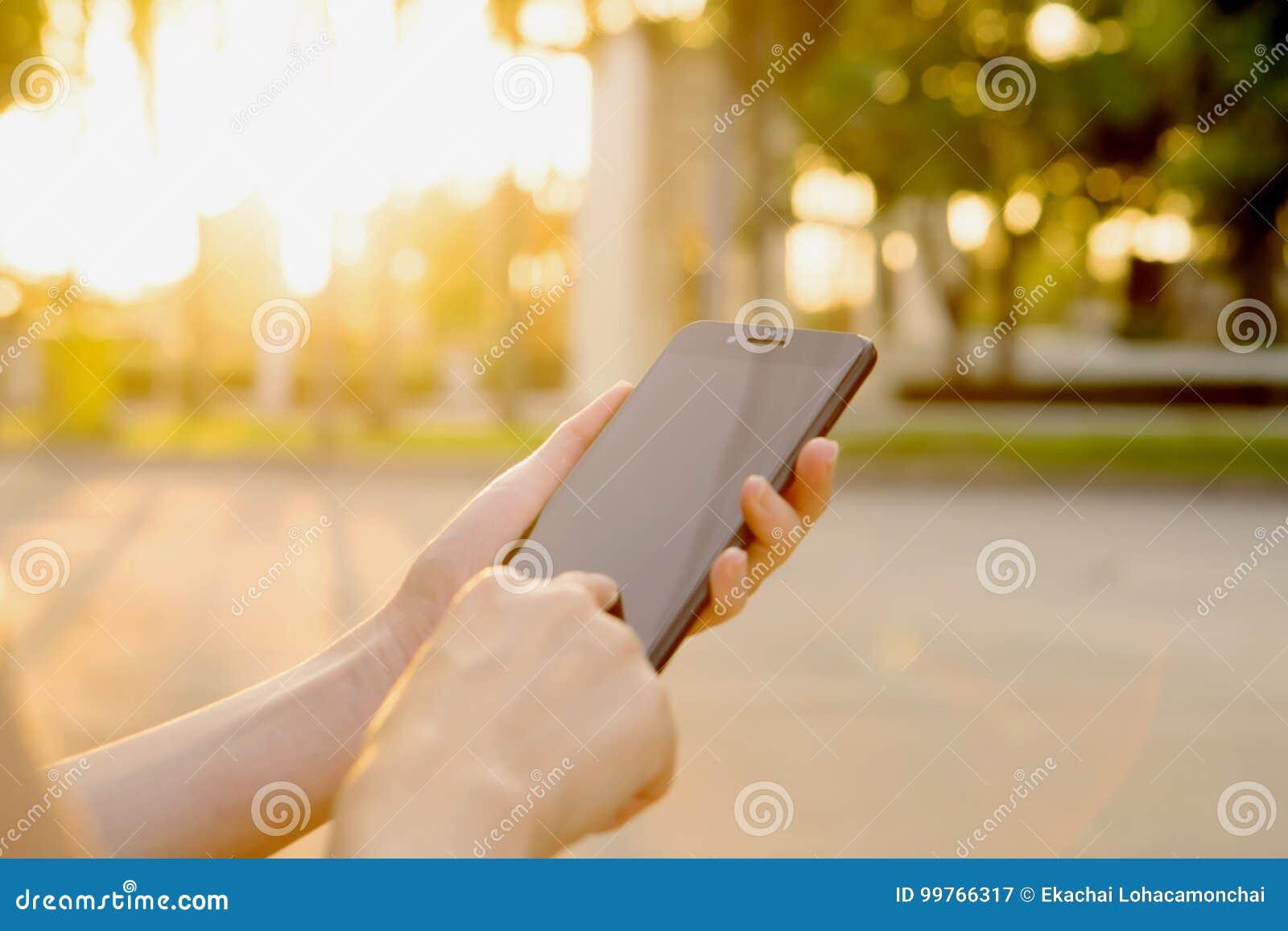 Texting op de telefoon