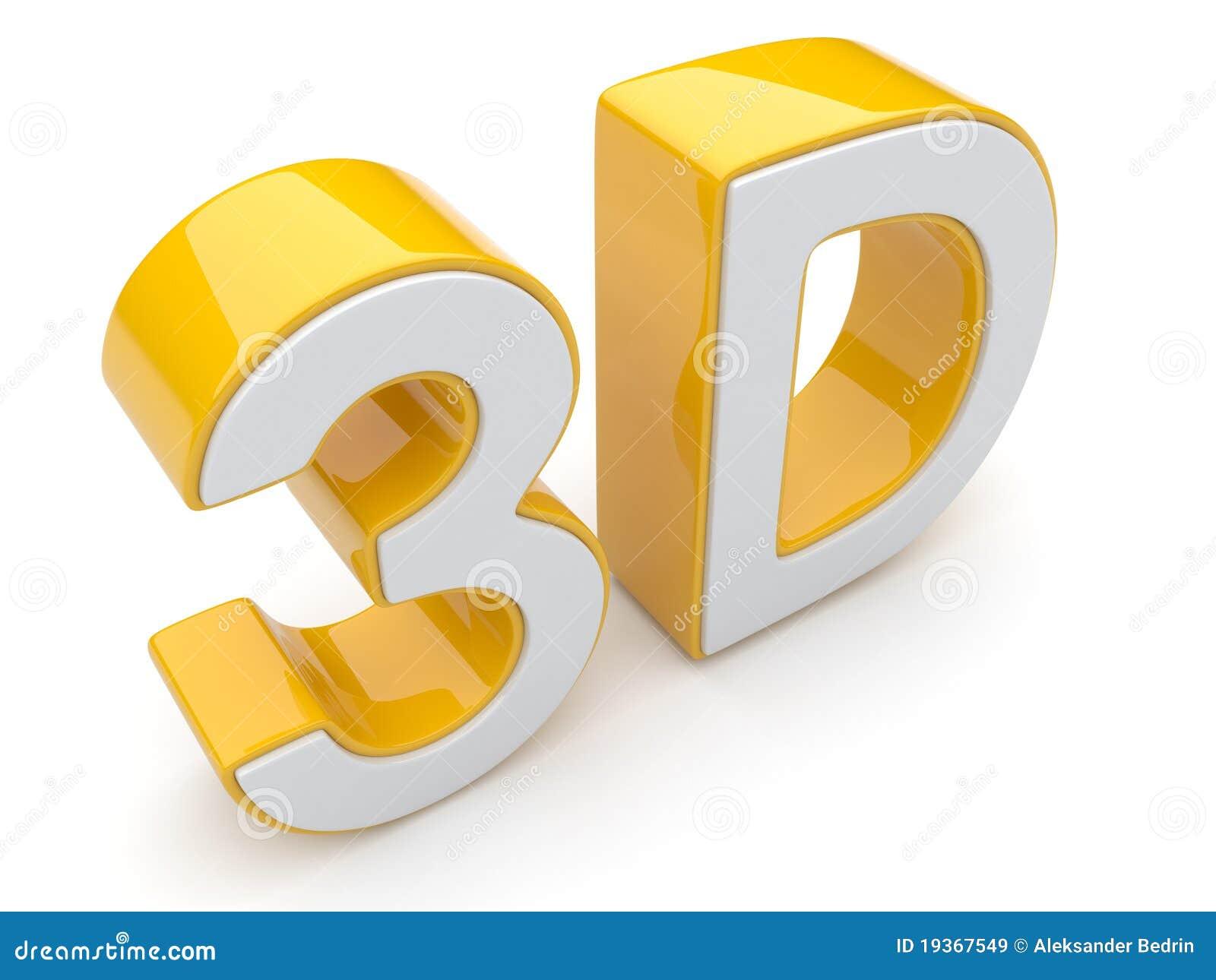 Texto 3D. Cinema do entretenimento. Isolado