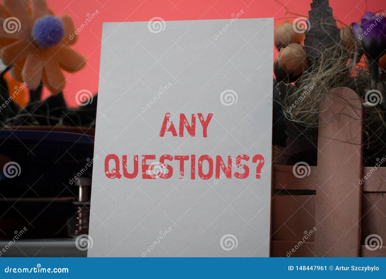 Texto da escrita da palavra alguma pergunta das perguntas O conceito do neg?cio para voc? diz escrever a ordem para pedir a demon